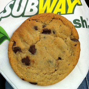 Subway chocolate chip cookie
